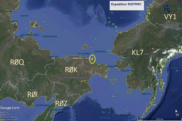 карта Чукотки