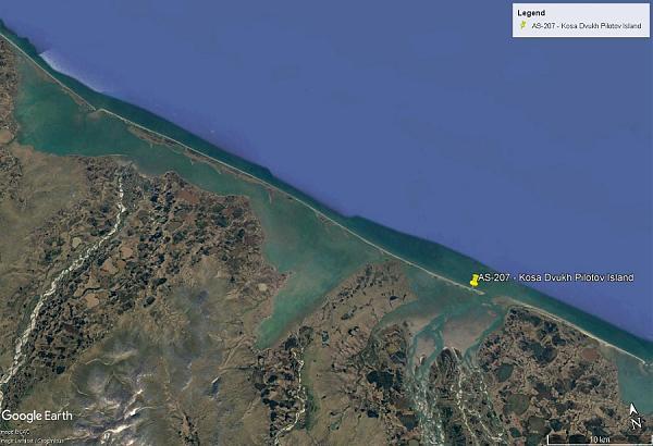 карта острова с отметкой QTH