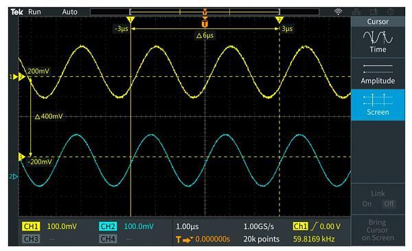 Tektronix TBS2000B - дисплей