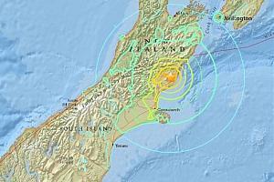 Землетрясение и цунами в Новой Зеландии - аварийная частота