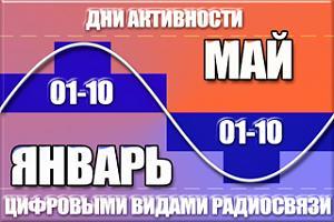"""Дни активности """"01-10"""" с 1 по 10 января 2017 года"""