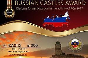 """RCA-2017 дни активности """"Крепости России"""" с 29 апреля по 9 мая 2017 года"""