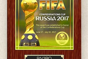 "Плакетка ""FIFA Confederations Cup. Russia 2017"" от компании ""Most Wanted DX"""