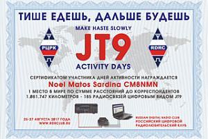Итоги дней активности JT9 «Тише едешь, дальше будешь» 2017 года