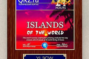 Дипломная программа QRZ.RU - выдана первая плакетка