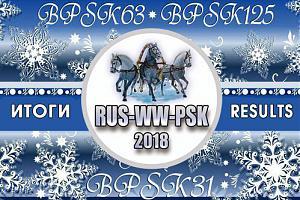 Опубликованы результаты февральского Russian WW PSK Contest 2018