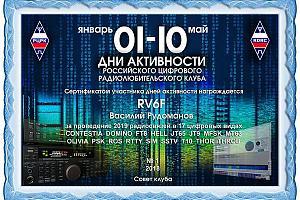 Итоги «01-10» Дней активности 2018