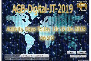 Дни активности AGB-DIGITAL-JT modes 18-19 апреля 2019