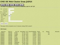 EME DX Web Cluster from JAPAN