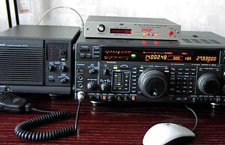 Так MFJ-1278B/DSP работает с моим трансивером.