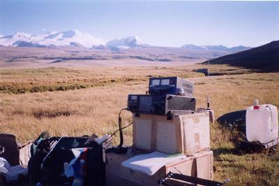Полевая позиция UE9OWM/9/p на высокогорном плато Укок в Горном Алтае