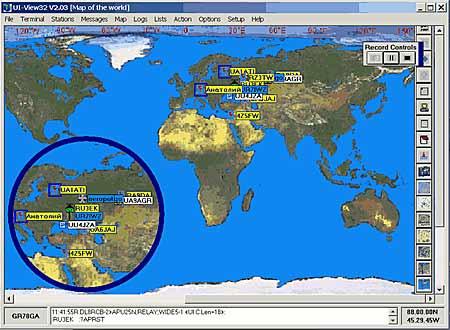 Обзорная карта APRS-хотспотов