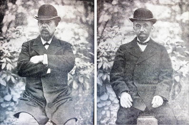 Рис.11 А.С.Попов и П.Н.Рыбкин (справа). 1895 год.