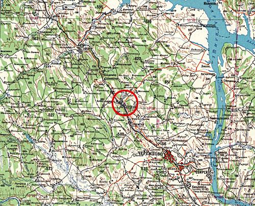 п. Кутулик - Топографическая карта. Щелкните мышью для скачивания всей карты (3300 кб)