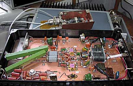 Оригинальная конструкция усилителя мощности UA9OS - щелкните мышью для увеличения