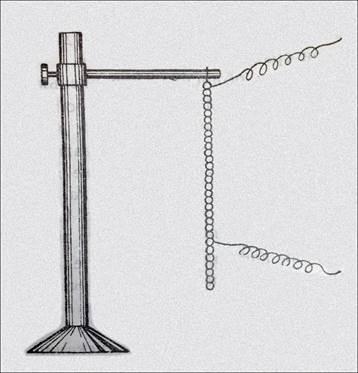 """Рис.5 Изготовленный А.С.Поповым """"цепочечный детектор"""" для лекционных и учебных занятий."""