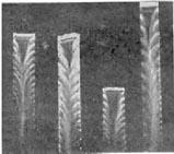 Вид искры во вращающихся зеркалах, полученный в эксперименте В. Феддерсена, для подтверждения колебательного характера искрового разряда. 1862 г.