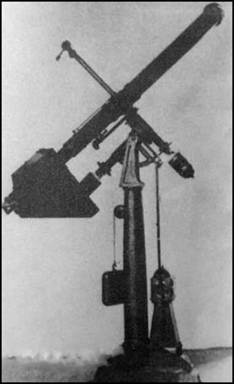 Рис.7 Фотометрическая труба, примененная А.С.Поповым для наблюдения и фотографирования Солнечной короны (1887).