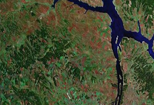 Усть Ордынский Бурятский АО - снимок американского спутника с сайта GOOGLE MAPS