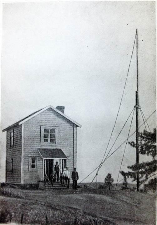 Рис.14 Телеграфная станция А.С.Попова на острове Кутсало (1900).