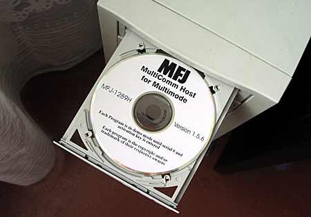 Современное программное обеспечение к MFJ-1278B/DSP на CD.