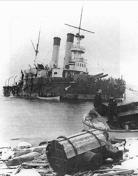 Организация работ по ликвидации последствий аварии броненосца Генерал-Адмирал Апраксин