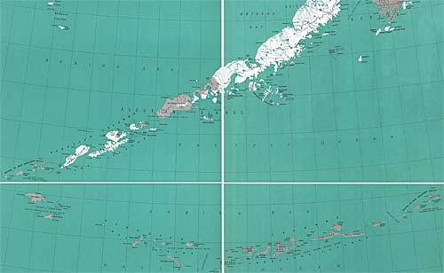 Рис.22 Карта Алеутских островов (из Интернета)