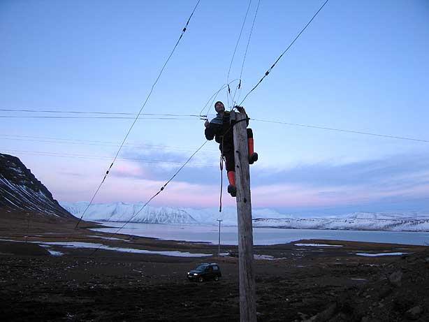 Тор (TF4M)  за починкой антенны