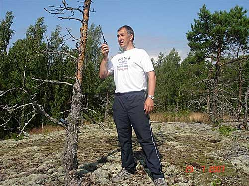 Игорь (UA1ATI) проводит мемориальную связь с островом Гогланд, на расстоянии 45 км.