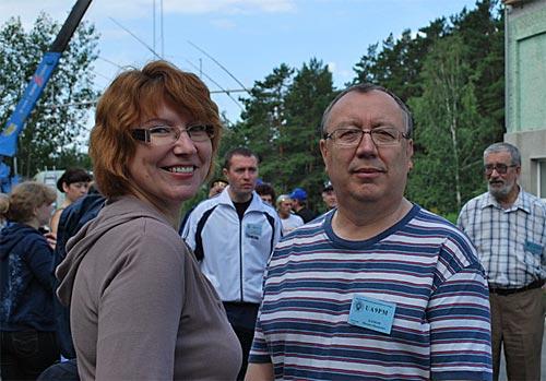 Елена Константинова UA9OTM и Михаил Клоков UA9PM