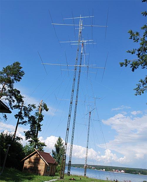 Это только часть антенн RZ9OZO