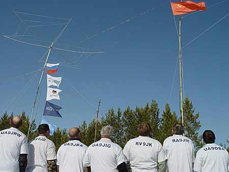 Подъем флага СССР