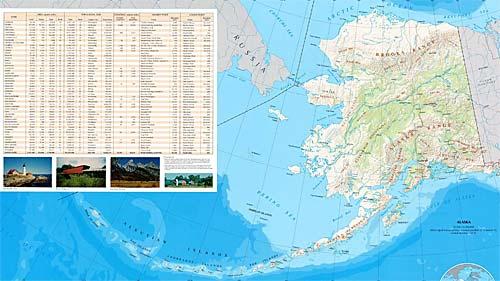 Карта Аляски и Алеутских островов
