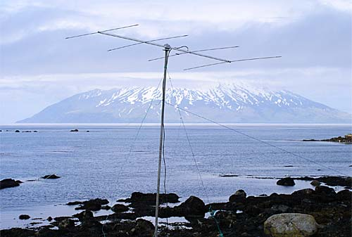 Фото антенна Yagi на 50 МГц