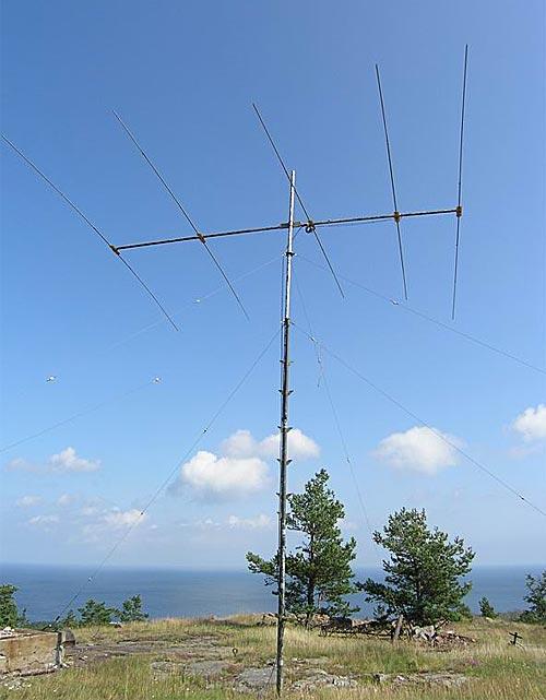 Антенна 15-ти метрового диапазона на позиции у RX1AW.