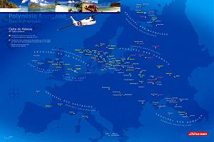 Проекция Французской Полинезии на Европу.