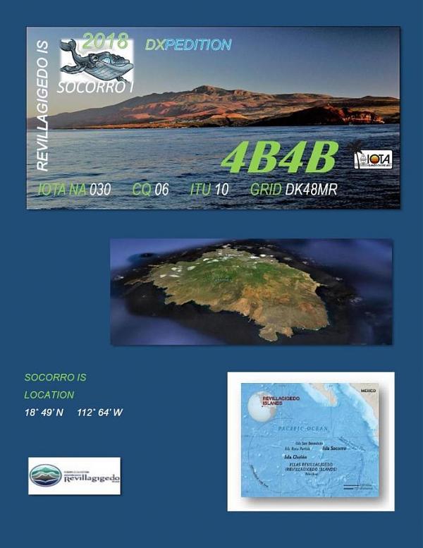 4B4B Остров Сокорро, архипелаг Ревилья Хихедо. Логотип. DX экспедиция