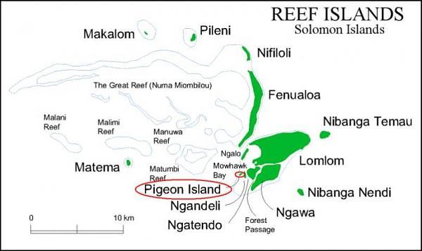 H40KT H40TT Остров Пигеон, Провинция Темоту, Соломоновы острова
