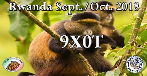 9X0T Руанда Баннер DX экспедиции