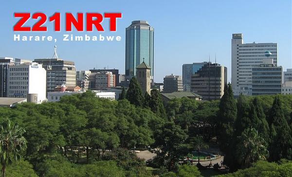 Z21NRT Хараре, Зимбабве QSL