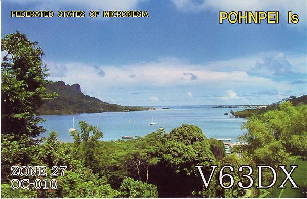 Остров Понпеи Каролинские острова Федеральные Штаты Микронезии V63DX QSL