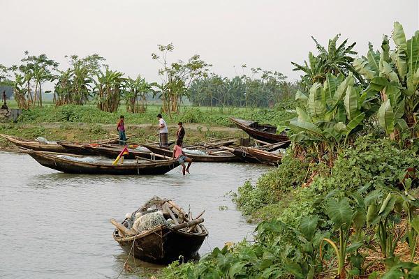 S21ZDC Остров Бхола Рыбацкая лодка