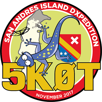 5K0T Остров Сан Андрес DX Экспедиция Логотип