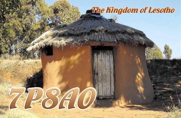 Лесото 7P8AO QSL
