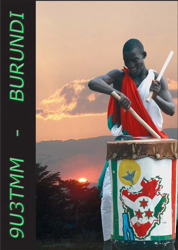 Бурунди 9U3TMM QSL