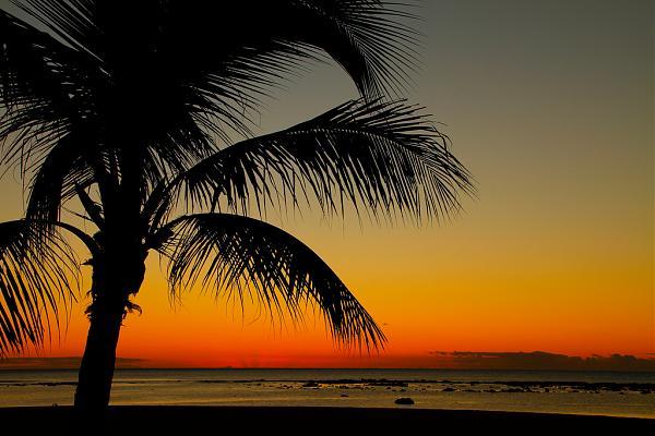3B8/IW2NEF Маврикий Закат Пляж Флик эн Флак