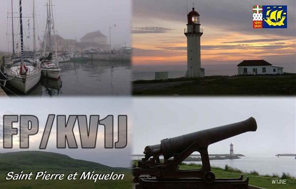 Остров Микелон FP/KV1J QSL