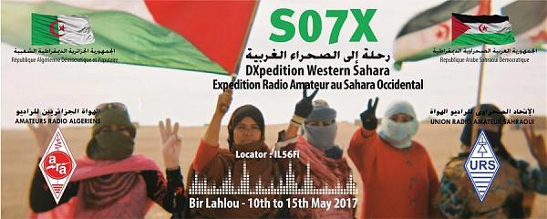 Сахарская Арабская Демократическая Республика S07X Радиолюбители DX экспедиция Логотип