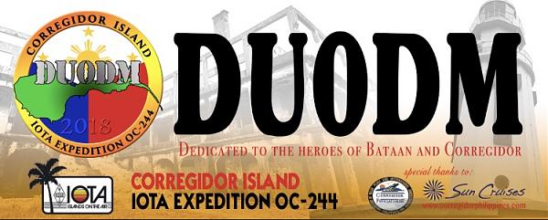 DU0DM Остров Коррехидор DX IOTA экспедиция Логотип.