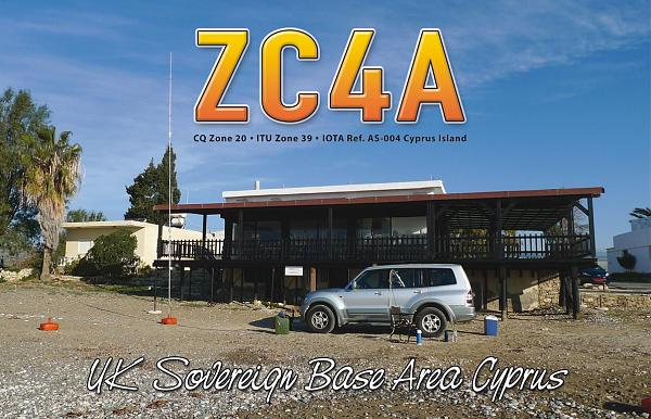 ZC4A Военные базы Великобритании Кипр QSL.